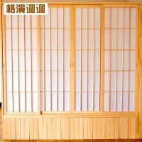 日式推拉门榻榻米双面格子门和室移门衣柜门障子纸隔断格栅定做