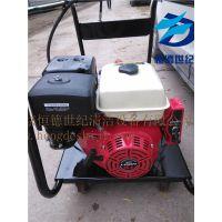 小型高压水管道疏通机使用单杠汽油机驱动小巧灵便厨房饭店管道疏通