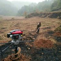 动土种植打坑机 单人手提汽油挖坑机 长春植树移植打洞机价格