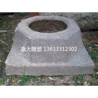 康大雕塑 石雕雕塑定制青石仿古做旧井口石雕井圈雕塑井边护栏成品定制