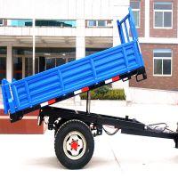 厂家直销农用自卸拖车 四轮拖拉机自卸拖斗 达丰机械定制平板运输拖车