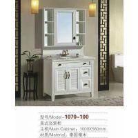 美式橡木落地柜款式图,河南浴室柜厂家