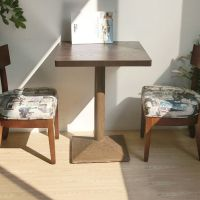 海德利 简约现代 铁艺实木餐桌椅组合 餐厅酒吧快餐桌椅 酒店咖啡厅桌子椅子家具