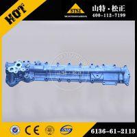 小松挖掘机配件6D105发动机6136-61-2113机油冷却器盖板