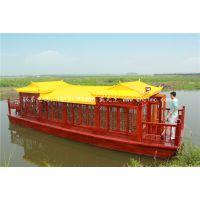 16米40人座画舫船哪有 兴化楚风 供应公园景区船 观光旅游船 大型画舫船