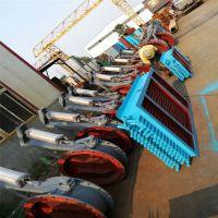 中冶订制化厂商气动插板阀不锈钢法兰连接气动螺旋阀