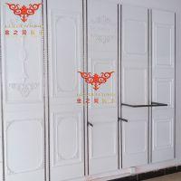 木质烤漆背板墙服装店挂衣架女装店衣服货架靠墙欧式挂板货架