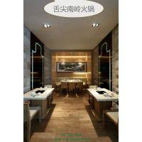 深圳厂家生产大理石火锅桌 实木火锅桌/特色餐厅桌子 简约现代