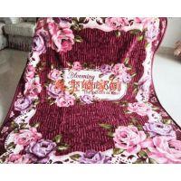 出口日本彩色花卉系列双层法兰绒舒棉绒毛毯大绒毯四季盖毯玫瑰花
