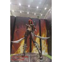深圳动漫游戏人物立体模型制作图片玻璃钢卡通雕塑工厂