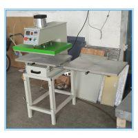 带架子气动双工位热压机 气动下滑式热转印服装加工设备 皮革加工压唛机