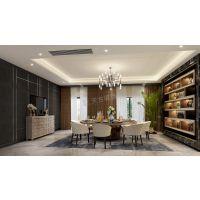鲁能领秀城装修设计 南岸茶园别墅现代风格