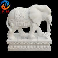 石象一对石雕大象门口摆件汉白玉石雕大象公司门口摆放吉祥如意象多红雕塑