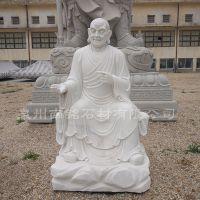 惠安石雕开心罗汉尊者佛像寺庙,各类石头雕像人物动物定制加工