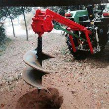 眉县栽电线杆用拖拉机挖坑机 启航牌园林植树打洞机 好用的篱笆栅栏钻坑机视频