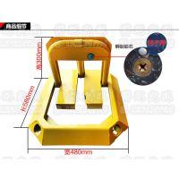 汽车加厚耐压防撞停车位黄色车位锁占位锁 地锁 八角手动车位锁