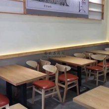 简约现代料理餐厅桌子椅子组合,广州料理餐厅桌椅家具定制