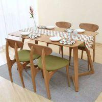 仿实木铁艺牛角椅奶茶甜品店主题餐厅咖啡厅食堂快餐桌椅组合