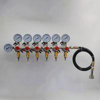 卡罗福厂家直销 啤酒阀门 啤酒分配器 一级减压阀(软管进气六阀)