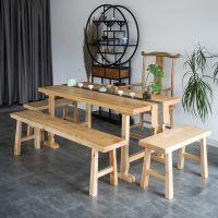 新中式茶几原实木整板简约禅意泡茶桌功夫长条桌茶台桌椅组合