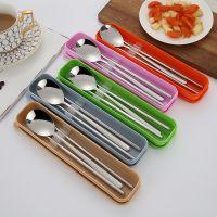 岐荣餐具厂创意304不锈钢便携式勺 筷套装成人学生礼品旅行外带餐具