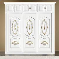 定制衣柜门移动门顶线罗马柱定做批发木塑推拉门百叶定制衣柜厂