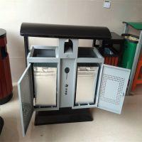 沧州志鹏供应园林果皮箱垃圾箱 景区市政广告分类垃圾桶