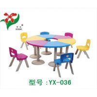 幼儿园专用课桌椅、幼儿园桌子、幼儿园塑料课桌椅