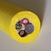 如何分析和解剖ROV零浮力电缆来判断内部什么材料组成部份(PU发泡)