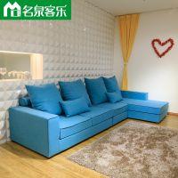 名泉客乐1055-17-3米6客厅简约沙发大连软包家具工厂直销