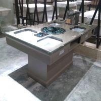 现代中式多功能带抽屉餐桌 自助式 餐厅酒楼饭店铁制桌椅