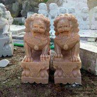 石雕狮子 镇宅辟邪看门狮子 60公分高石雕狮子 玖坊雕塑