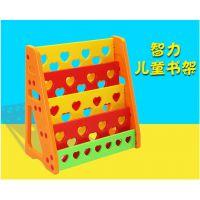 广西南宁鹰族板式儿童玩具收纳架幼儿园宝宝整理卡通储物柜多功能置物书架塑料柜子