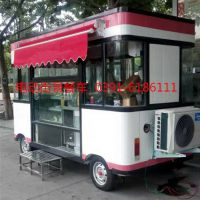 电动四轮小吃车房车多功能厨房餐厅一体流动快餐车