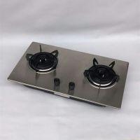 工厂批发高档家用不锈钢面板燃气灶 新款嵌入式双灶