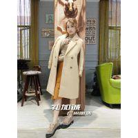 品牌折扣尾货新款单面阿尔巴卡大衣 女装品牌折扣服装就选广州明浩 