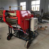 家用青贮饲料玉米秸秆打捆包膜机,全自动苜蓿豆秧圆捆打捆包膜机