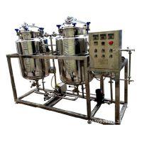 温州天沃厂家直销SUS304电加热双罐牛奶巴氏灭菌机