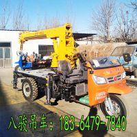 八骏贵州山地三轮车背树车 小型吊机山东生产厂家 云南定做轻卡吊机