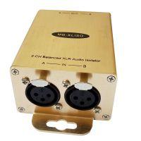 欧凯讯音频隔离器消除电流声 卡侬 降噪 专业音频滤波器音频共地隔离器XLR接口