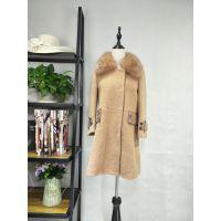 欧莎玛卡羊驼绒大衣,品牌折扣女装,一手货源批发,库存尾货批发