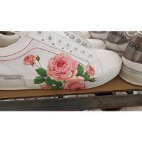 信拓东莞板鞋鞋材水转印加工 可撕膜鞋跟水贴纸定制加工