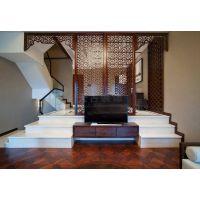 绿地翠谷联排别墅装修案例|天古装饰设计师王朴作品|新中式风格
