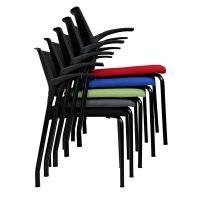 塑料多功能培训椅 众晟布艺学习椅子 办公会议洽谈接待椅