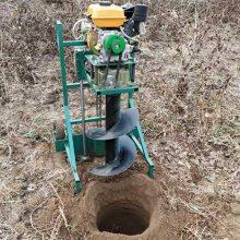 树木果木种植挖坑机 富兴手推框架式打洞机 植树造林挖坑机厂家价格