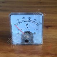 外贸出口电压表厂家 DH60-V指针式 500V伏特板表规格 60mm尺寸
