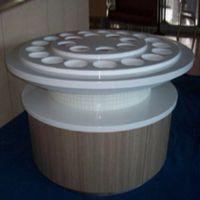 火锅调料台大理石可定制简约椭圆形餐厅烧烤店商用酱料台