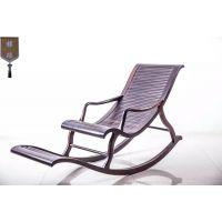 犀牛角摇椅室内室外红木家具简约弧形逍遥高档紫光檀椅子