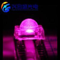 0.5W粉色食人鱼led灯珠 四脚插件0.5W粉红色晶元食人鱼led发光二极管