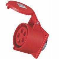 启星QX-3451 5芯32A IP44暗装插座/防水工业插头插座/工业插座